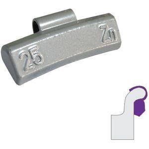 Contrapesas para llantas de aluminio 25 g