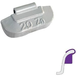 Steel rim weights 20g