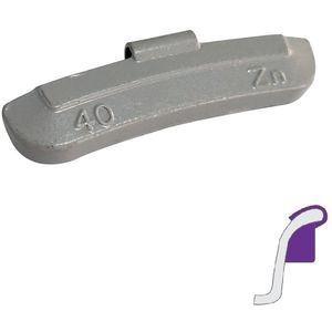 Steel rim weights 40g