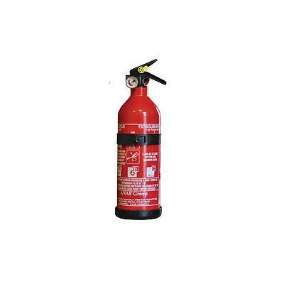 Stored-pressure fire extinguisher + pressure gauge