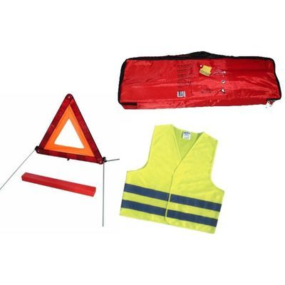 Approved high-vis vest + warning triangle
