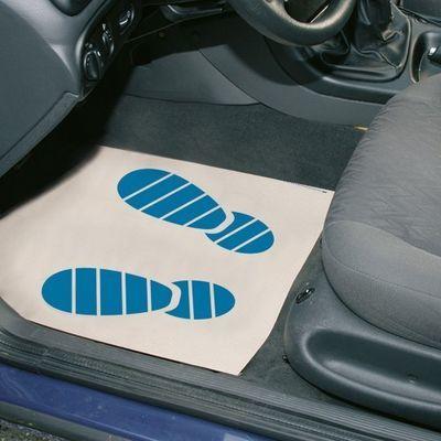 Paper floor mat