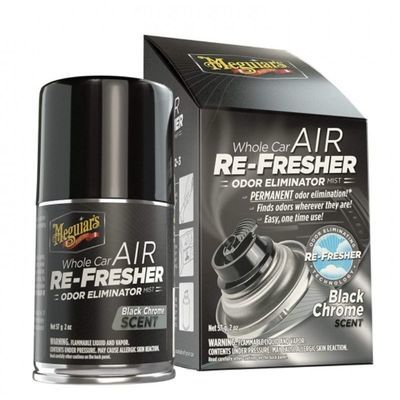 MEGUIARS AIR RE-FRESHER BLACK CHROM