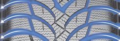 V-förmige Struktur der Rillen