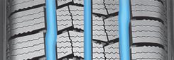 2 Zick-Zack-Rillen & 1 rechte Rille