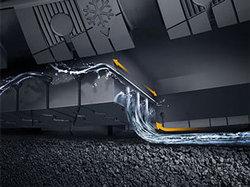 Liquid Layer Drainage pour des distances de freinage réduites sur sol verglacé